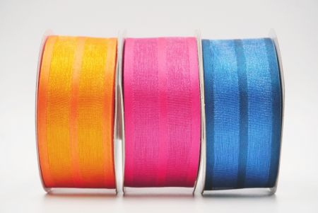 see through grosgrain and satin ribbon_brigh colors/red/yellow