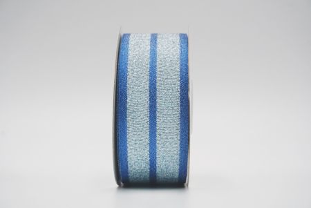 blue metallic grosgrain/satin ribbon