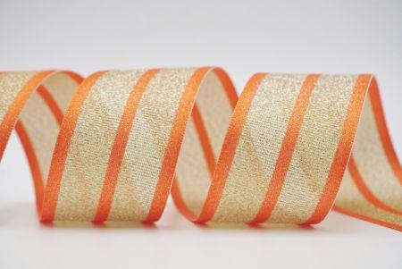 orange metallic woven grosgrain ribbon