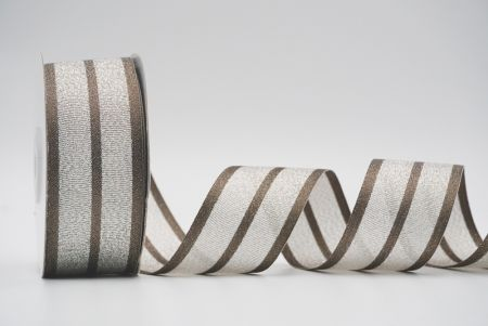 different fabric ribbon brown