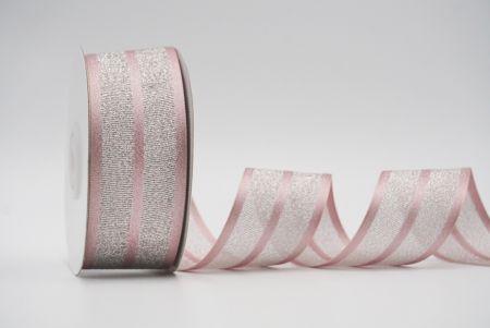 dark pink metallic grosgrain/satin ribbon
