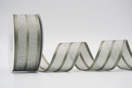 dark green metallic woven ribbon