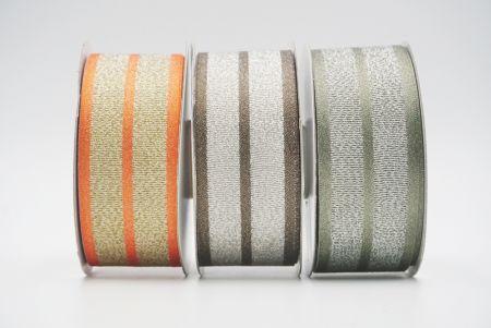 metallic/satin woven ribbon