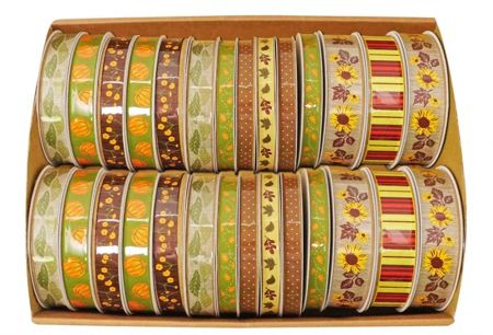 Fall Collection Printed Ribbon - Autumn Collection Ribbon