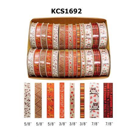 Orange Fall Collection Ribbon