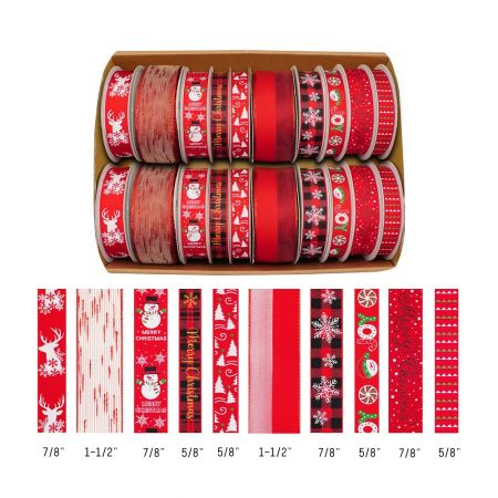 Christmas Collection_Red series ribbon set