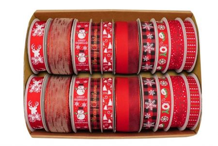 Świąteczna wstążka do kolekcji - Zestaw świątecznych wstążek kolekcjonerskich