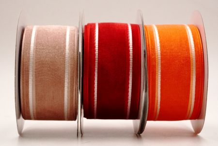 Sheer Stain Woven Ribbon - Sheer woven ribbon with stain stripe on the sides.