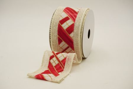 red/white simplicty gifts design woven mix ribbon