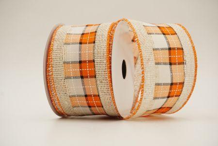 natural ribbon with checks/plaid mixes within ribbons