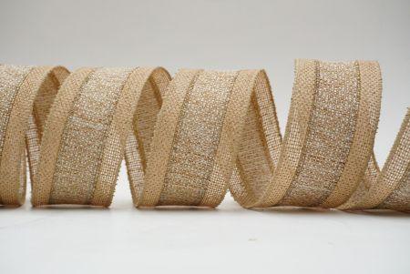 kakhi woven combination ribbon