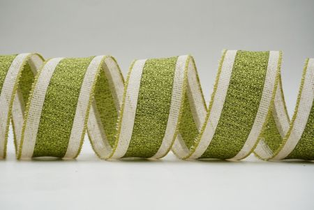 green and metallic style ribbon
