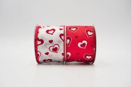 Triple Hearts Ribbon - Valentine's hearts love ribbons