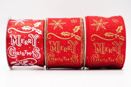 Merry Christmas Style Wired Ribbon