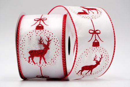 Christmas Bauble Ribbon_Reindeer