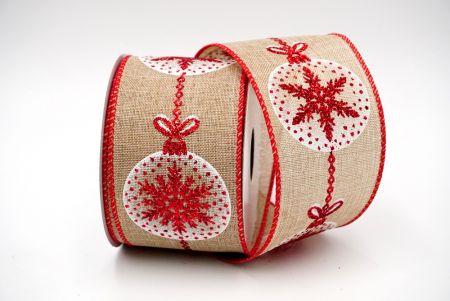 Christmas Bauble Ribbon_snowflake
