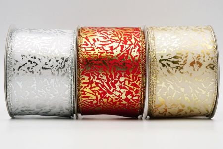 Glitter Animals Stripes Wired Ribbon