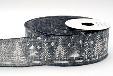 grey christmas tree knit ribbon