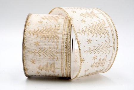 ivory xmas tree ribbon