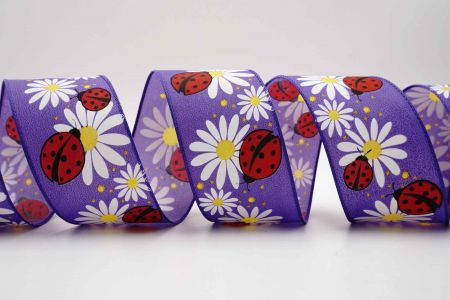 Ladybugs on Chamomile Ribbon - Ladybugs on Chamomile Ribbon