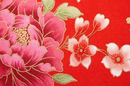 Peony Bloom Combed Cotton Fabric - Peony Bloom Combed Cotton Fabric