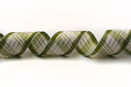 Plaid Ribbon w/Silver or Gold Accent - Plaid Ribbon w/Silver or Gold Accent