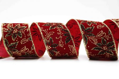 Poinsettia Velvet Ribbon - Poinsettia Velvet Ribbon