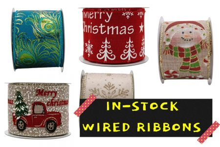 In-Stock Wired Ribbon - In-Stock Wired Ribbon with no MOQ required