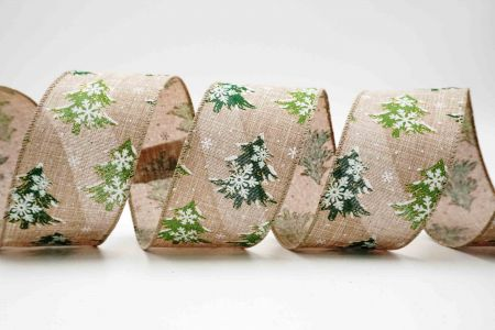 Snowflakes Xmas Tree Ribbon - Snowflakes & Xmas Tree Ribbon