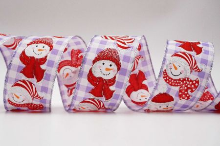 Snowman on Plaid Ribbon
