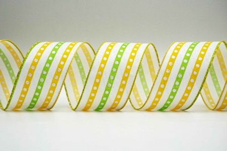 Spring Bicolor Stripe & Dot Ribbon - Spring Bicolor Stripe & Dot Ribbon