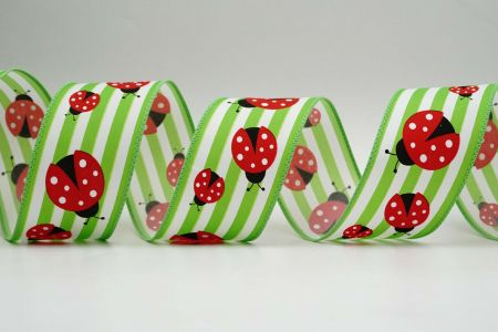 Spring Dotted Ladybugs Ribbon - Spring Dotted Ladybugs Ribbon