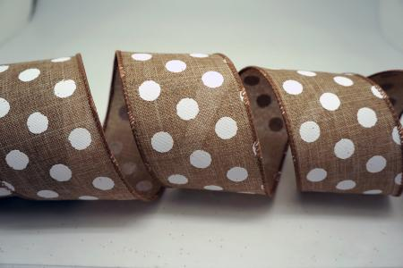 White Polka Dots Ribbon - White Polka Dots Ribbon