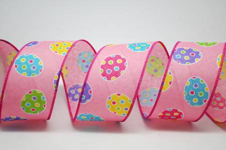 Polka Dotted Easter Ribbon - Polka Dotted Easter Eggs Ribbon