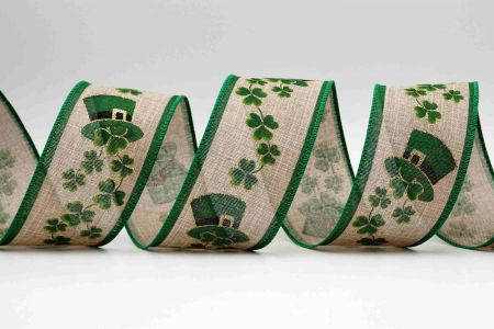 St. Patrick's Hat & Clover Ribbon