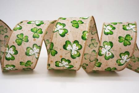 St. Patrick Day Clovers Ribbon