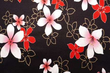Tung Blossom Combed Cotton Fabric - Tung Blossom Combed Cotton Fabric