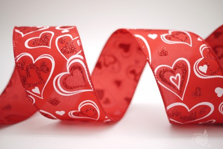 Valentine's Hearts Satin Ribbon - Valentine's Hearts Satin Ribbon