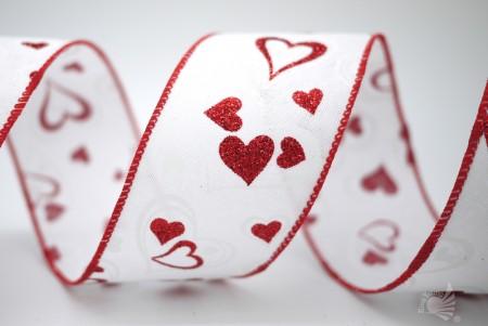 वेलेंटाइन दिल अशुद्ध बर्लप रिबन - वेलेंटाइन दिल अशुद्ध बर्लप रिबन