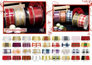 NO.17 Floral/Glitter Ribbon/Plaid Ribbon