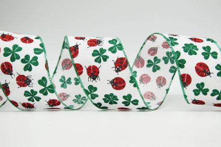 Ladybugs and Clovers Ribbon - Ladybugs and Clovers Ribbon