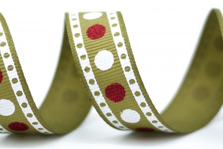 多色原点缎面织带 - 多色圆点织带