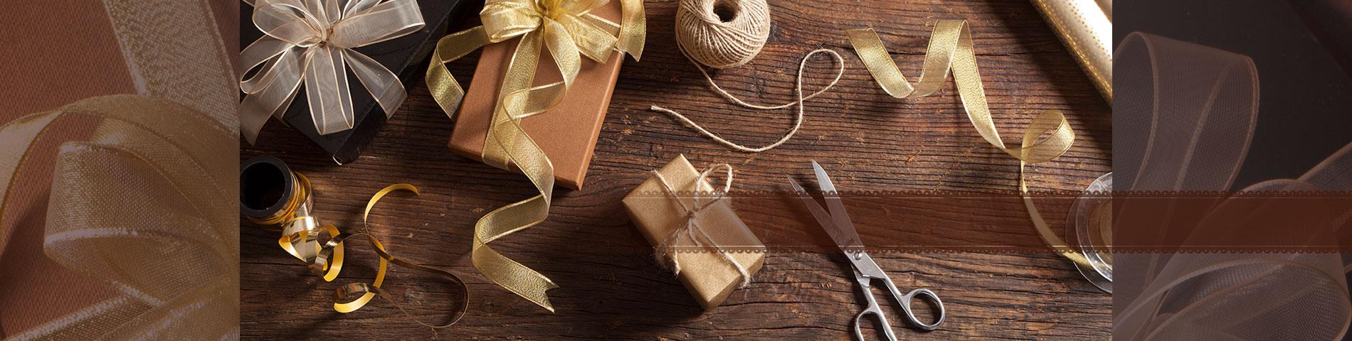 絶妙なパッケージ装飾のためのリボン