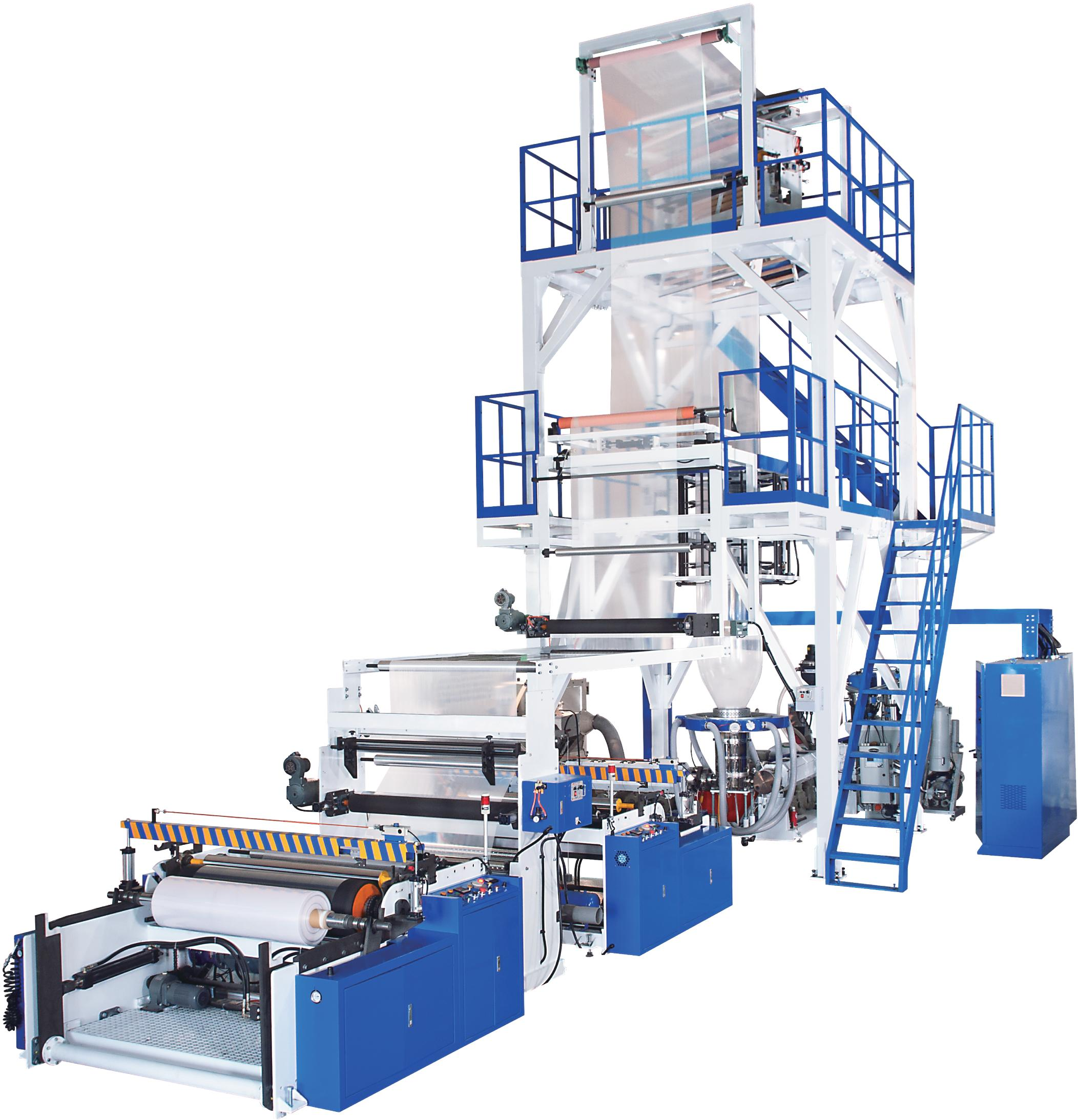 Oscillating Tower Two-layer AB / Three-layer ABA Blown Film Machine
