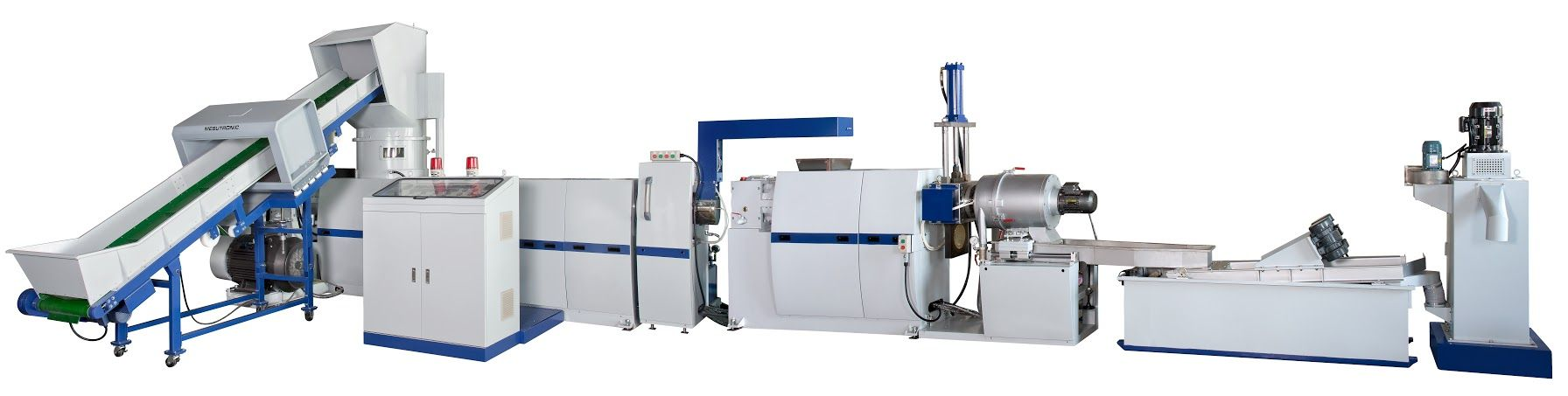 3-in-1 Shredder Intergrated Plastic Recycling & Pelletizing Machine incorporates the crusher, the extruder and the pelletizer, suitable for recycling soft plastics.