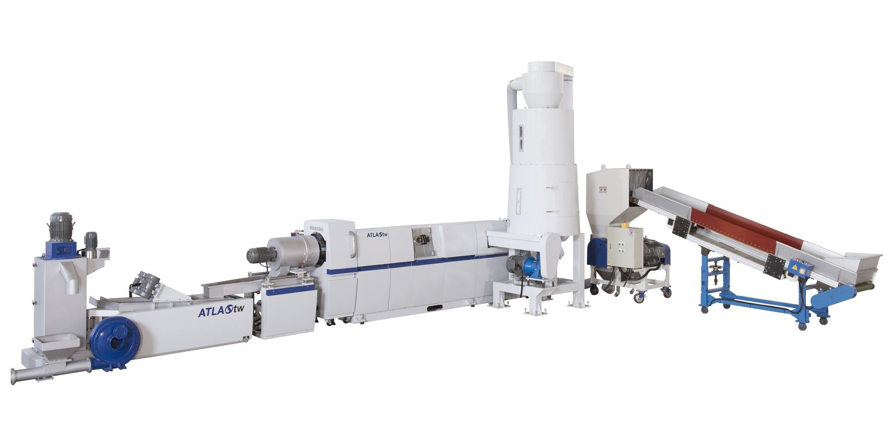 WPF-100 사이드 피딩 플라스틱 재활용 및 펠렛화 기계