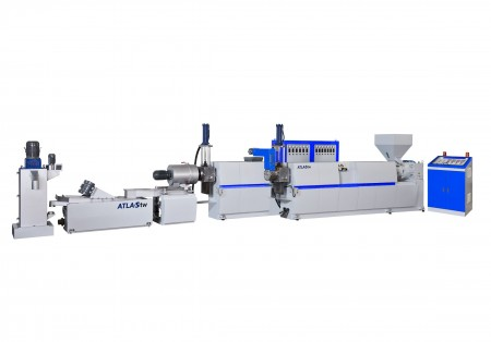 Two Stage Hopper Feeding & Die Face Cutting Plastic Recycling Machine
