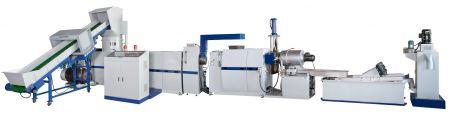 Dua Tahap 3-in-1 Shredder Terintegrasi Die Face Cutting Mesin Daur Ulang Plastik - 3-in-1 Shredder Intergrated Plastic Recycling & Pelletizing Machine menggabungkan crusher, extruder dan pelletizer, cocok untuk mendaur ulang plastik lunak.