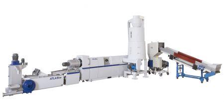 Mesin Daur Ulang Plastik Makan Samping - WPF-100 Side Feeding Plastic Recycling & Pelletizing Machine