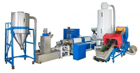 Side Feeding Plastic Recycling Machine - WPF-100 Side Feeding Plastic Recycling & Pelletizing Machine